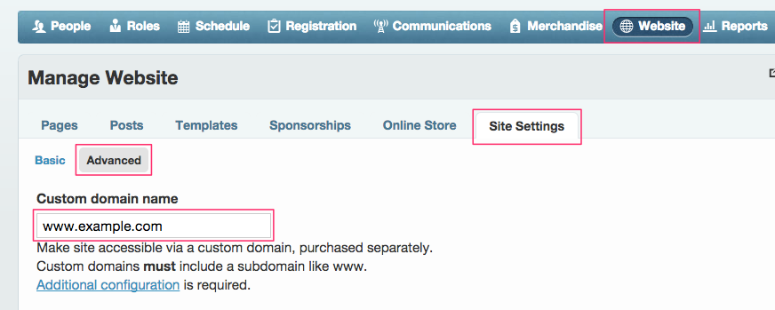 Custom Domain Configuration
